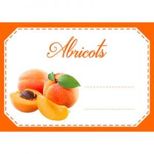 étiquette confiture abricots