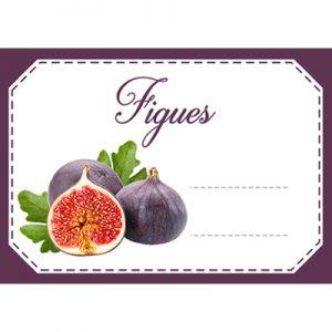 étiquette confiture figues