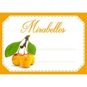étiquette confiture mirabelles