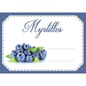 étiquette confiture myrtilles