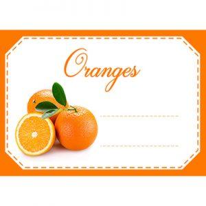 étiquette confiture oranges