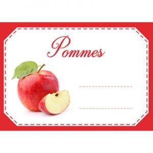 étiquette confiture pommes
