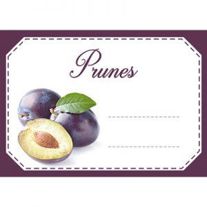 étiquette confiture prunes