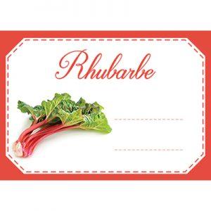étiquette confiture rhubarbe