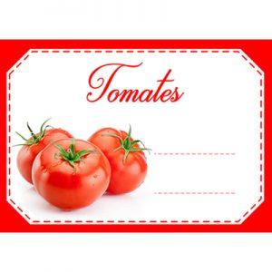 étiquette confiture tomates