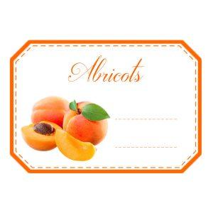 étiquettes confiture abricots