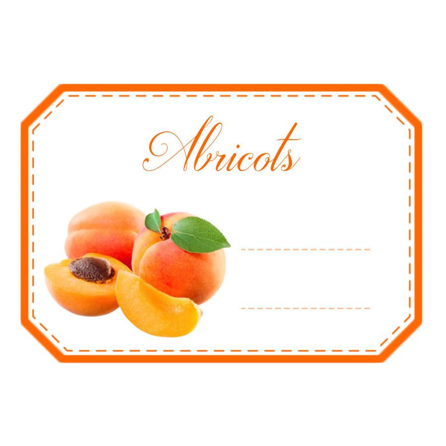 201 Tiquettes Confiture Abricot X10 Mon Bio Jardin