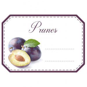 étiquettes confiture prunes